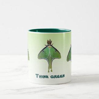 Luna Moth Earth Day Two-Tone Coffee Mug