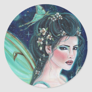 Luna Moth Fairy stickers by Renee Lavoie