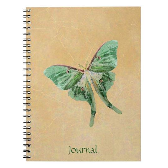 Luna Moth Garden Journal Notebook