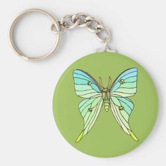 Luna Moth Keychain