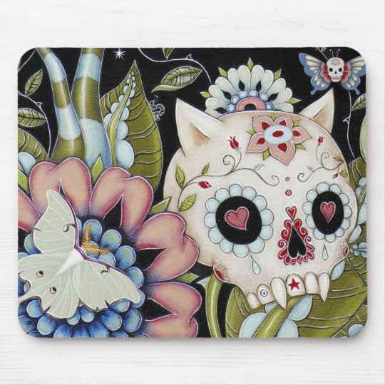 Luna Moth Kitty Scull Mouse Mat