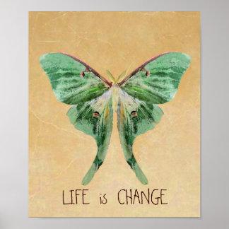 Luna Moth Print Life is Change