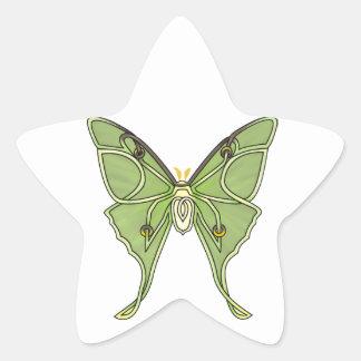 Luna Moth Star Sticker