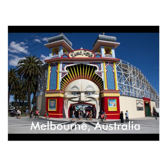 Luna Park Melbourne, Australia Postcard