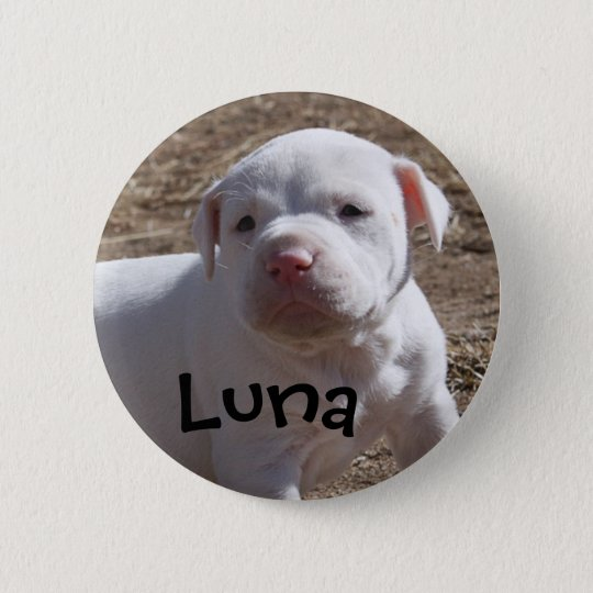 Luna, Saved Puppy 6 Cm Round Badge