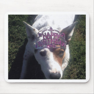 Luna Says Happy Birthday tiara Mousepad