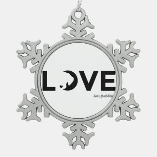luna snow flake snowflake pewter christmas ornament