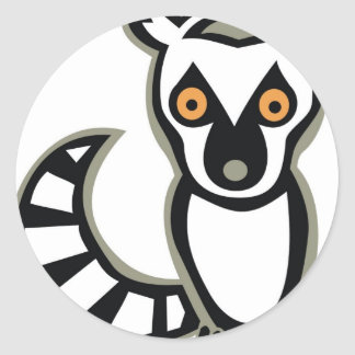 LUNA the LEMUR Classic Round Sticker