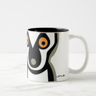 LUNA the LEMUR Two-Tone Mug