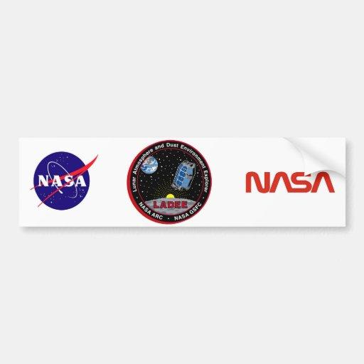 Lunar Atmosphere & Dust Environment Explorer LADEE Bumper Stickers