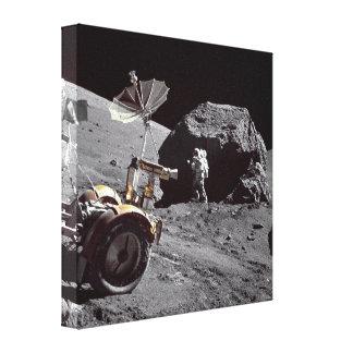 Lunar Boulder Canvas Print
