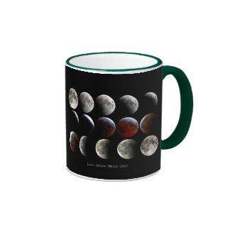 """""""Lunar eclipse and March 2007"""" Ringer Mug"""