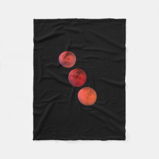 Lunar Eclipse Fleece Blanket