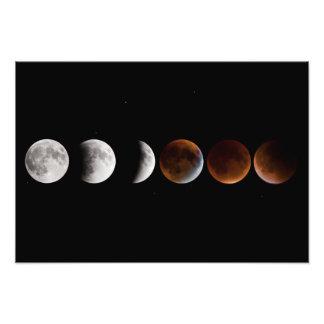 Lunar Eclipse Sequence Photo Print