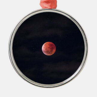 Lunar Eclipse Silver-Colored Round Decoration