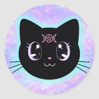 Lunar Kitty Classic Round Sticker