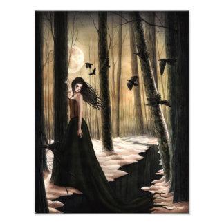 Lunar Lament Gothic Photoprint Photo Print