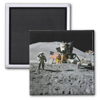 LUNAR LANDING SITE (Apollo misson) ~.jpg 2 Inch Square Magnet
