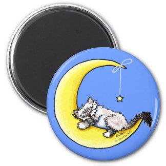 Lunar Love Ragdoll Kitty 6 Cm Round Magnet