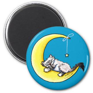 Lunar Love Ragdoll Kitty Magnets