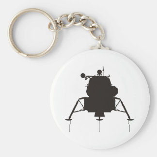 Lunar Module Basic Round Button Key Ring