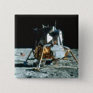 Lunar Module on the Moon 15 Cm Square Badge