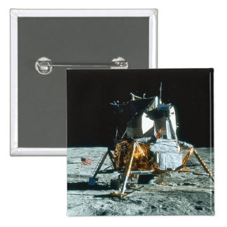 Lunar Module on the Moon 15 Cm Square Badge