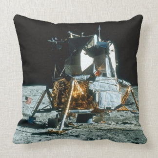 Lunar Module on the Moon Throw Pillow