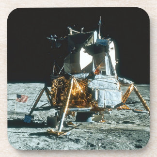 Lunar Module on the Moon Drink Coaster