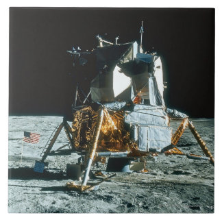 Lunar Module on the Moon Large Square Tile