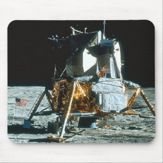 Lunar Module on the Moon Mouse Pad