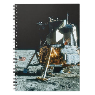 Lunar Module on the Moon Spiral Notebook