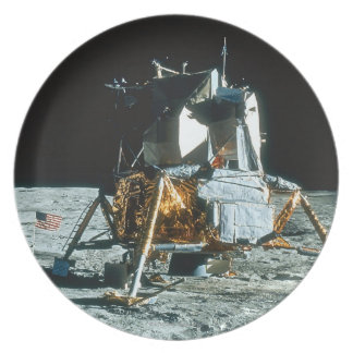 Lunar Module on the Moon Party Plate