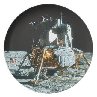 Lunar Module on the Moon Plates