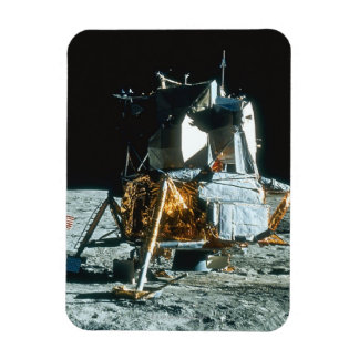 Lunar Module on the Moon Rectangular Photo Magnet