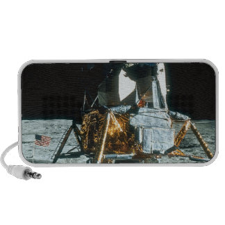 Lunar Module on the Moon Portable Speakers