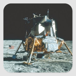 Lunar Module on the Moon Square Sticker