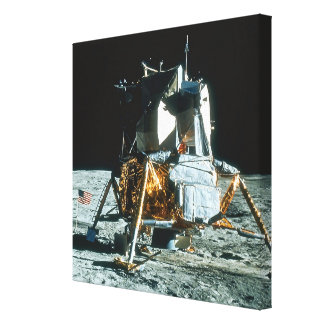 Lunar Module on the Moon Stretched Canvas Print