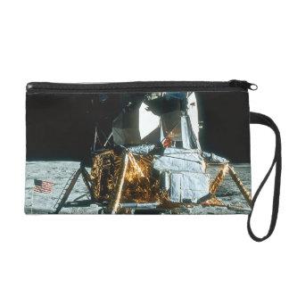 Lunar Module on the Moon Wristlet Clutches