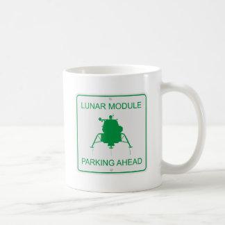 Lunar Module Parking Basic White Mug