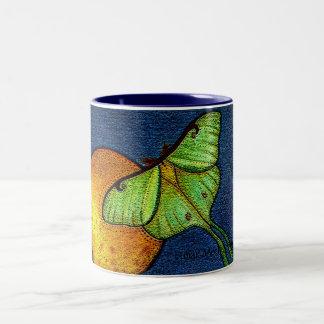 lunar Moth Two-Tone Coffee Mug
