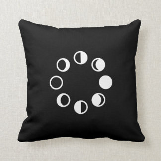 Lunar Phases Pictogram Throw Pillow Cushions