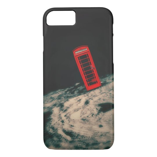 Lunar Red British telephone box iphone 7 case