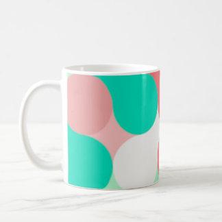 Lunares rosa celeste y blanco Mug Taza De Café