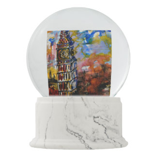 LunarGlobes, Big Ben Strikes Ten Art Globe Snow Globe