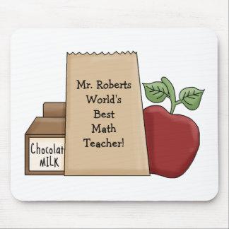 Lunch bag/Apple-World's Best Math Teacher's Name Mouse Mat