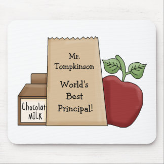 Lunch bag/Apple-World's Best Principal! Mousepad