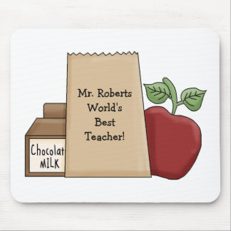 Lunch bag/Apple-World's Best Teacher's Name Mouse Pad