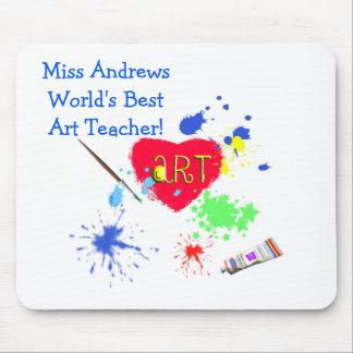 Lunch bag/Apple-World's Best Teacher's Name Mouse Pad