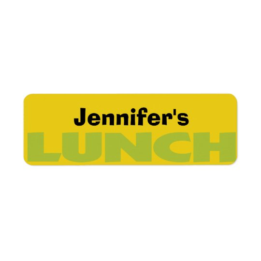Lunch Bag ID personalised sticker